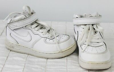 Nike White Hi-Top Shoes Sz 9C Youth Boys Girls Solid Basketball Athletic Sneaker