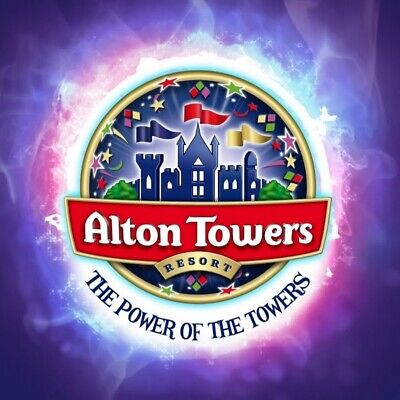 Two x2 Alton Towers E-Tickets Sunday 8th September 08/09 Adult Child Theme Park