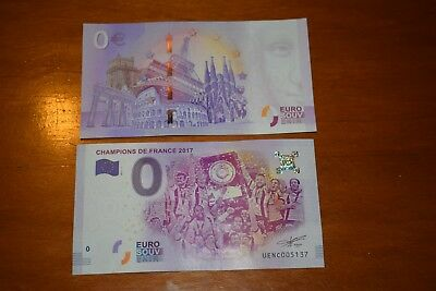 Billet 2017 Zero 0 Euro Souvenir 63 Rugby Asm Champion De France No Bank Note