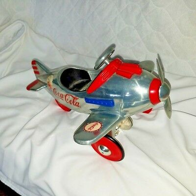 Coca-Cola Die Cast Model Pedal Vehicle Silver Edition Plane # 12808 of 25,000