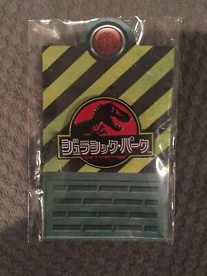 Mondo Jurassic Park World Japanese Japan Logo Enamel Lapel Pin