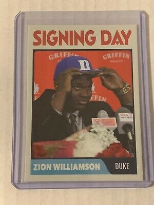 ZION WILLIAMSON Duke Signing Day Rookie Card RC Duke ACEO
