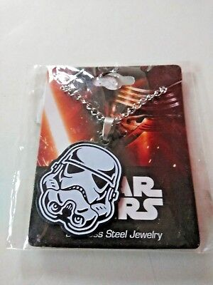 Star Wars Storm Trooper Necklace Licensed Stainless Steel Jewelry Brand NEW!