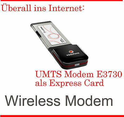 Umts Stick Modem Express-Card E3730 Simlock for IBM Thin Pad T60 Free All