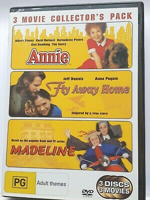 Annie  / Madeline  / Fly Away Home [ 3 DVD Set ] Region 4, FREE Next Day Post
