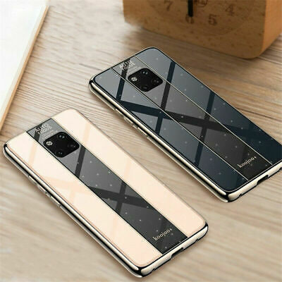 For Huawei Mate 20X 20 Pro Lite Hybrid Plating TPU Glass Hard Back Case Cover