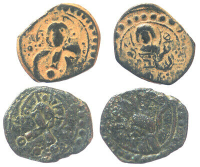 Byzantine Alexius I Lot of 2 Class K Anonymous Folles Over at Class J Folles