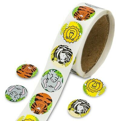 100pcs Kids Jungle Animal Sticker Rolls Labels Animal Sticker Tape Washi Tape
