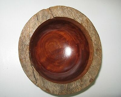 Aust Turned Wooden Bowl 15cm Nuts Sweets Decoration Souvenir Xmas gift
