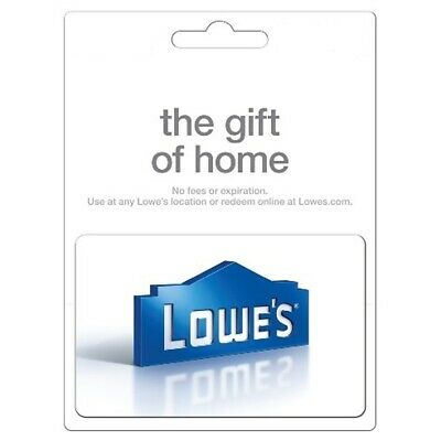 Lowe's Physical Gift Card - FREE 1st Class Mail Delivery - Sealed Choose Value