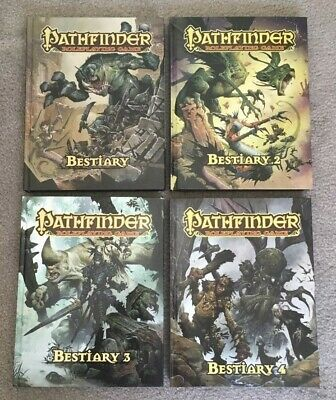 Pathfinder Bestiary 1 2 3 and 4 Lot All HC All brand new Full Sets