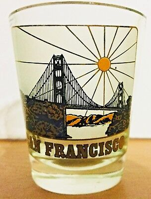 "San Francisco Golden Gate Bridge 2.25"" Collectible Shot Glass VINTAGE"