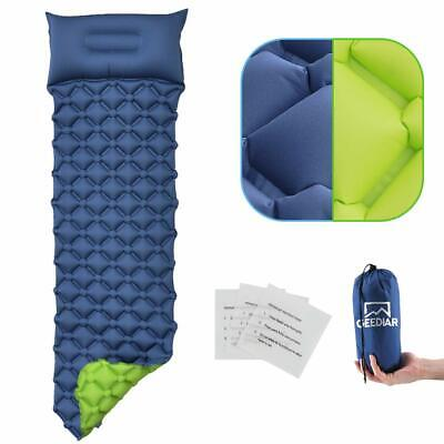 Ultralight Inflatable Sleeping Mat Camping Air Mattress Pad Roll Up Car Two Side