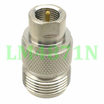 1pce Adapter N female jack to FME plug male RF connector straight F/M