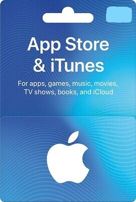 Apple App Store & iTunes Physical Gift Card - FREE 1st Class Mail Delivery