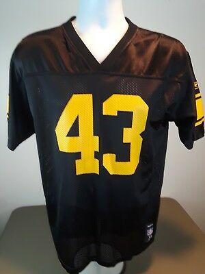 a49abb085 PITTSBURGH STEELERS TROY POLAMALU REEBOK TEAM APPAREL Jersey YOUTH SIZE  EX.LARGE