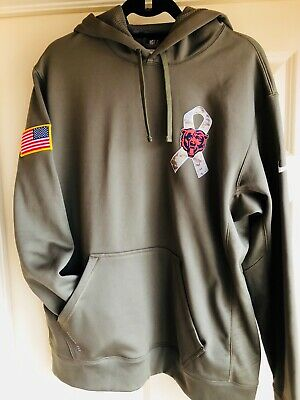 huge discount 0f36e 98d29 CHICAGO BEARS 2018 NFL Salute to Service Hoodie Therma ...