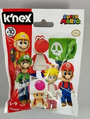 K/'NEX SUPER MARIO FIGURE SERIES 10 4 LOT BLIND BAG PACKS TY021 SEALED