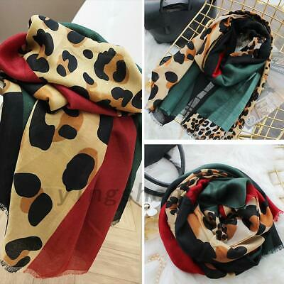 Leopard Print Women Scarf Ladies Shawl Pashmina Stole Blanket Wrap Cotton AU