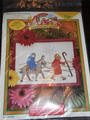 JUST CROSS STITCH BEGINNERS BIBLE COUNTED Cross Stitch Kit ROAD TO BETHLEHEM