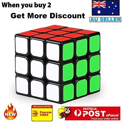Magic Cube 3x3x3 Super Smooth Fast Speed Rubik Puzzle Rubics Rubix Magic Toys