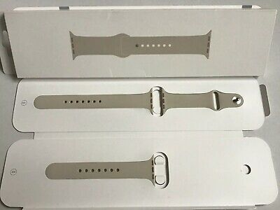 GENUINE APPLE WATCH SPORT BAND 2018 STONE Silver Pin 44mm / 42mm Series 1/2/3/4