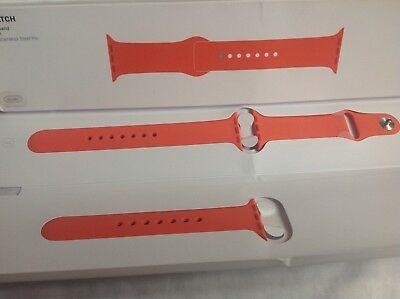 GENUINE APPLE WATCH SPORT BAND STRAP MM7W2ZM/A APRICOT 38 /40mm 2016 NEW opened