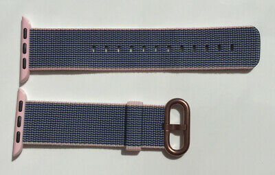 GENUINE APPLE WATCH WOVEN NYLON BAND 2016 light pink /midnight blue 38mm Or 40mm