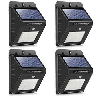 Solar Powered PIR Motion Sensor Light Outdoor Garden Security Wall Lights 25 LED