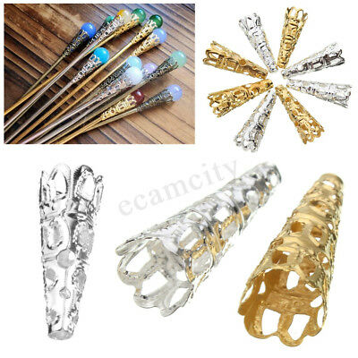 50Pcs/Pack Filigree Bead Caps Cones Nail Spacers For Jewellery Findings Craft