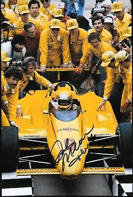 """Rick Mears  SIGNED  12x8   Penske March 84C  Indianapolis 500 1984 """" Winner """""""