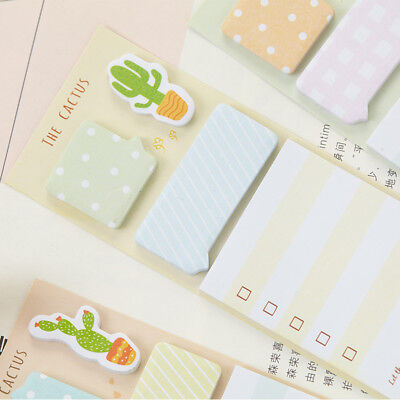 2pcs Note Pad Planner Diary Cactus Memo Pad  Label Sticker Kawaii Stationery2019