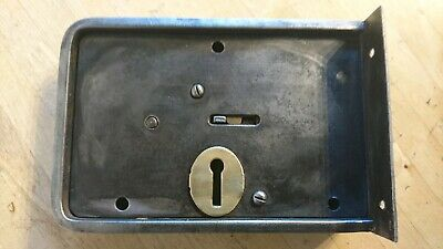 Large Antique / Vintage UNION Iron & Brass Rim Lock - Door Lock