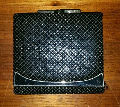Black Glomesh purse wallet in good used condition.