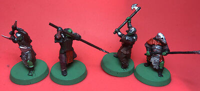 GW LOTR Lord of The Rings-Signore degli Anelli Miniature - Mordor Orks - Painted