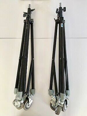 Pair of ARRI Compact Wheeled Lighting Stand (050MKA). 3 Section 90cm to 260cm