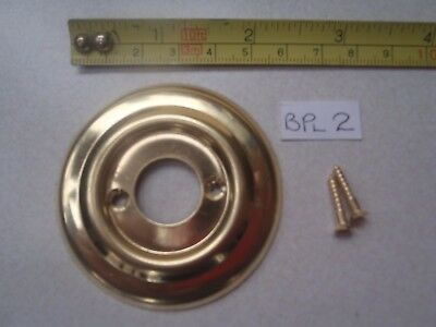 A 60 mm DIA PRESSED BRASS DOOR KNOB ROSE / BACK PLATE FOR RIM LOCK FIT ETC BPL 2