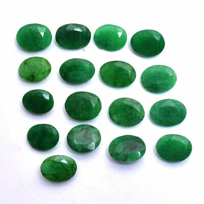100-500 Cts Natural Brazilian Green Emerald Faceted Gemstones Lot For Jewelry