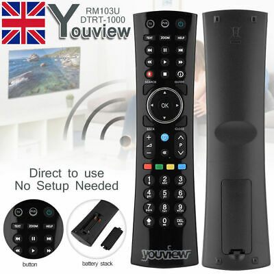 Black  YOUVIEW Remote Control For HuMax DTR-T2000 DTR-T1000 Remote Control UK