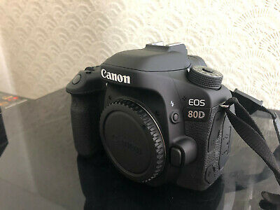 CANON EOS 80D 24MP DIGITAL SLR CAMERA & 64GB & BAG - Very Low Usage - EOS80D