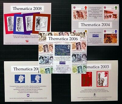GB Thematica 2006 Souvenir Sheets 5 Different NP565