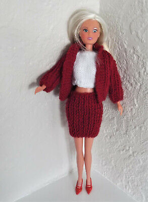 hand knitted barbie/sindy, fashion doll, clothes. Clothes + shoes.