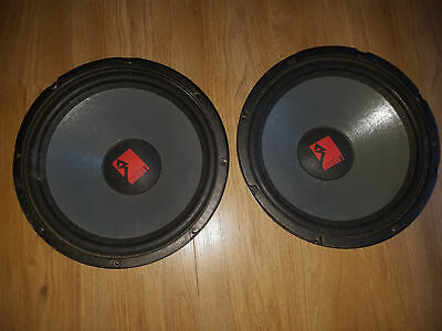 Rockford Fosgate Series 1 SPPR 128 12 inch subwoofer ( pair ) Oldschool USA Made
