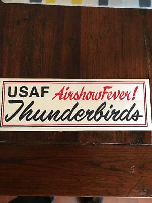 Accessoires, losse onderdelen USAF Air Force Thunderbirds BUMPER STICKER decal 9 inches wide U.S