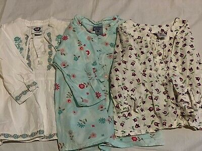 Baby Girl Floral Boho/Peasant style Long Sleeve tops X3 Size 1