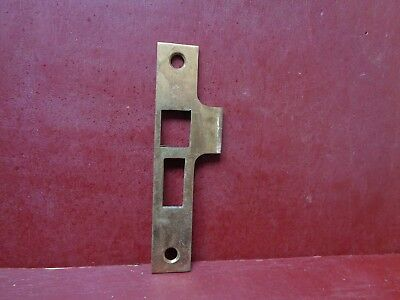 1 Vintage Solid Brass Mortise Lock Strike Plate #02