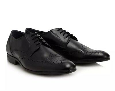 Lotus Since 1759 - Mens Black leather 'Bannerman' derby Lace Up Shoes Uk 8