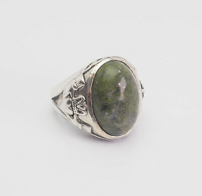 Vintage sterling silver Connemara Celtic Irish Claddagh ring size 6