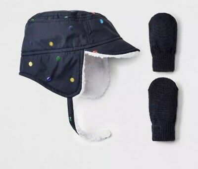 ca2ad1b7207 NWT TODDLER GIRL S Trapper Hat With Ears  Mitten Set- Cat And Jack ...