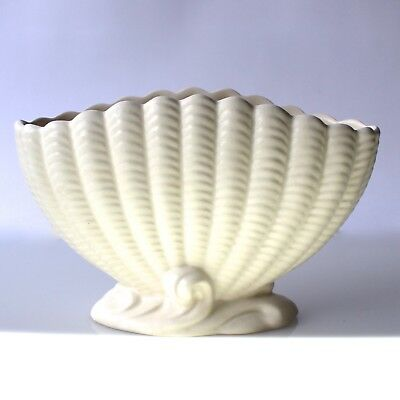 SYLVAC White Mantle Vase Planter Clamshell No.513 Constance Fry Style 1930s
